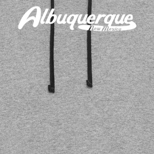 Albuquerque New Mexico Vintage Logo - Colorblock Hoodie