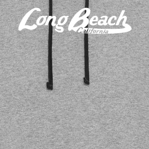 Long Beach California Vintage Logo - Colorblock Hoodie