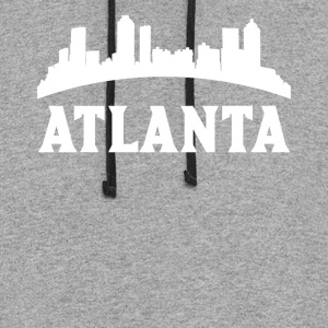 Vintage Style Skyline Of Atlanta GA - Colorblock Hoodie