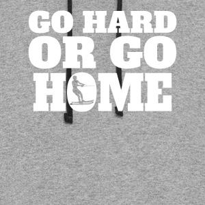 Go Hard Or Go Home Waterskiing - Colorblock Hoodie