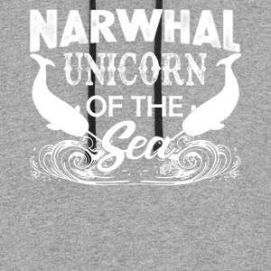 Narwhal Unicorn Of The Sea Shirt - Colorblock Hoodie
