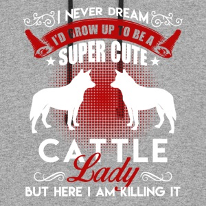 Super Cute Cattle Dog Shirt - Colorblock Hoodie