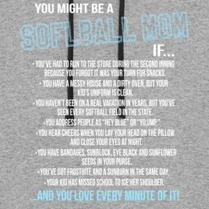 You Might Be A Softball Mom T Shirt - Colorblock Hoodie