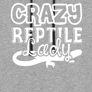 Crazy Reptile Lady Shirts - Colorblock Hoodie