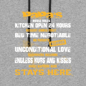 Papa's House Rules T Shirt - Colorblock Hoodie