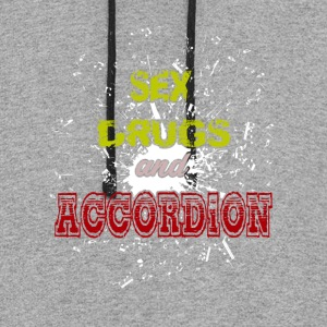 Sex Drugs And Accordion Shirt - Colorblock Hoodie