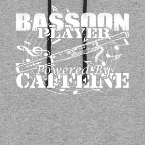 BASSOON PLAYER POWERED BY CAFFEINE SHIRT - Colorblock Hoodie