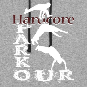 HARDCORE PARKOUR GRUNGE CITY SHIRT - Colorblock Hoodie