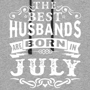 The best husbands are born in July - Colorblock Hoodie