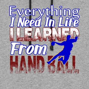 EVERYTHING I LEARNED FROM HAND BALL SHIRT - Colorblock Hoodie