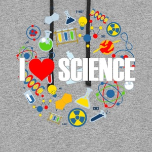 I LOVE SCIENCE SHIRT - Colorblock Hoodie