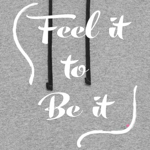 Feel it to Be it - White - Colorblock Hoodie