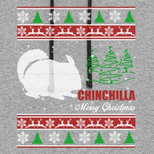 Chinchilla Shirt - Chinchilla Christmas Shirt - Colorblock Hoodie