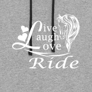 LIVE LAUGH LOVE RIDE HORSES - Colorblock Hoodie
