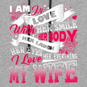 I LOVE MY WIFE SHIRT - Colorblock Hoodie