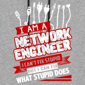 I Am A Network Engineer T Shirt - Colorblock Hoodie