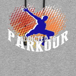 ADDICTED TO PARKOUR SHIRT - Colorblock Hoodie