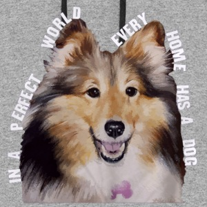 Shetland Sheepdog In Every Home - Colorblock Hoodie