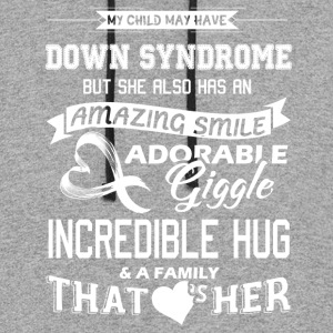 Down Syndrome Shirts - Colorblock Hoodie