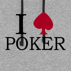 I love Poker - Colorblock Hoodie