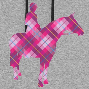 Tartan Horse and Rider - Colorblock Hoodie