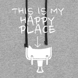 Happy Place Western Riding - Colorblock Hoodie