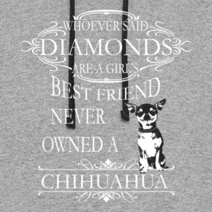 Chihuahuas Are A Girls Best Friend T Shirt - Colorblock Hoodie