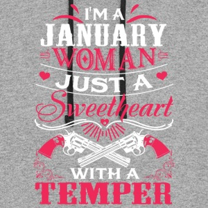 I'm a january woman Just a sweetheart with a tempe - Colorblock Hoodie