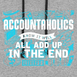 Accountaholics Shirt - Colorblock Hoodie