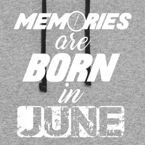 Memories are Born in June - Colorblock Hoodie