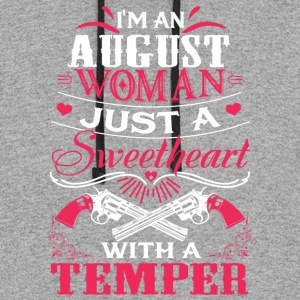 I'm an august woman Just a sweetheart with temper - Colorblock Hoodie