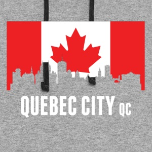 Canadian Flag Quebec Skyline - Colorblock Hoodie