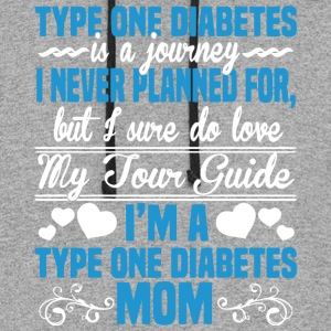 I'm A Type One Diabetes Mom T Shirt - Colorblock Hoodie