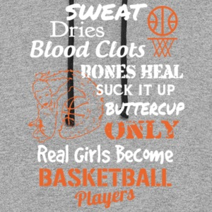 Real Girls Become Basketball Players T Shirt - Colorblock Hoodie