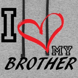 I_LOVE_MY_BROTHER - Colorblock Hoodie