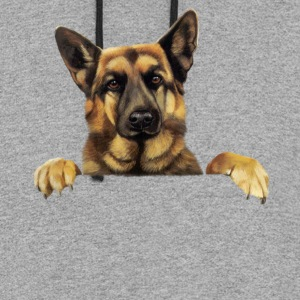 German Shepherd T shirt German Shepherd Power - Colorblock Hoodie