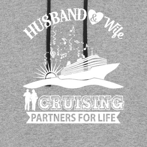 Husband And Wife Cruising Partners For Life TShirt - Colorblock Hoodie