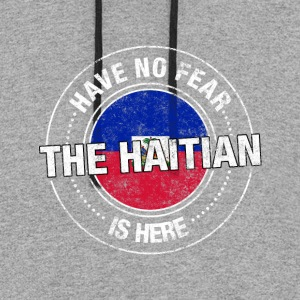 Have No Fear The Haitian Is Here - Colorblock Hoodie
