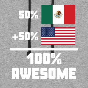 50% Mexican 50% American 100% Awesome Funny Flag - Colorblock Hoodie