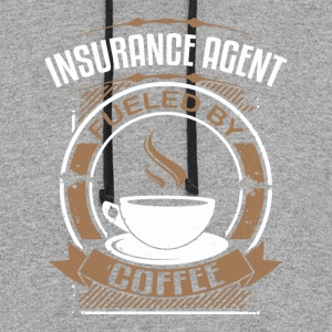 Insurance Agent Fueled By Coffee - Colorblock Hoodie