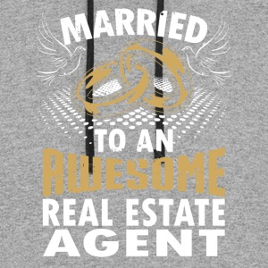 Married To An Awesome Real Estate Agent - Colorblock Hoodie