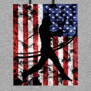 Baseball Pitcher American Flag Tee Shirt - Colorblock Hoodie