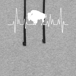 bison heartbeat tee shirt - Colorblock Hoodie