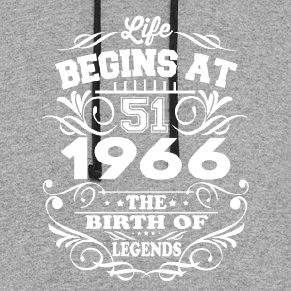 1966 The Birth Of Legends T-Shirt - Colorblock Hoodie