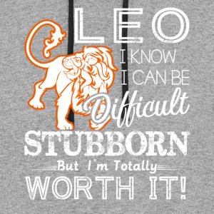 Leo Difficult Stubborn But Totally Worth It - Colorblock Hoodie