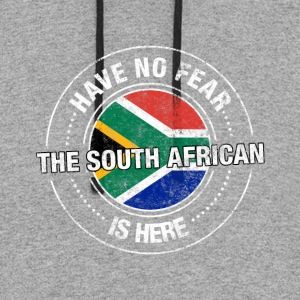 Have No Fear The South African Is Here Shirt - Colorblock Hoodie