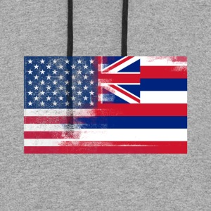 Hawaii American Flag Fusion - Colorblock Hoodie