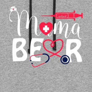 Nurse Mama Bear T Shirt - Colorblock Hoodie