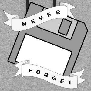 Floppy Disc Never Forget T Shirt - Colorblock Hoodie