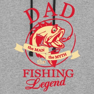 DAD FISHING LEGEND BACK SIDE SHIRT - Colorblock Hoodie